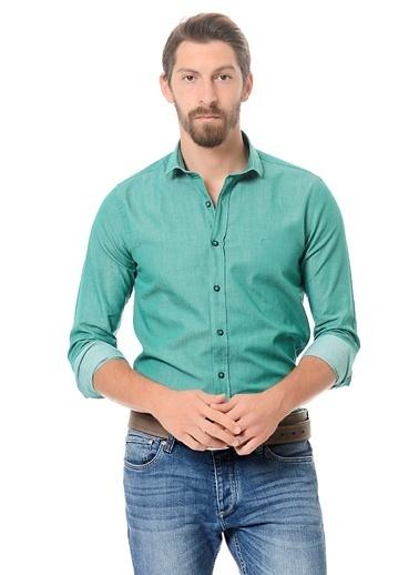 Wessi Uzun Kollu Slim Fit Gömlek Yeşil